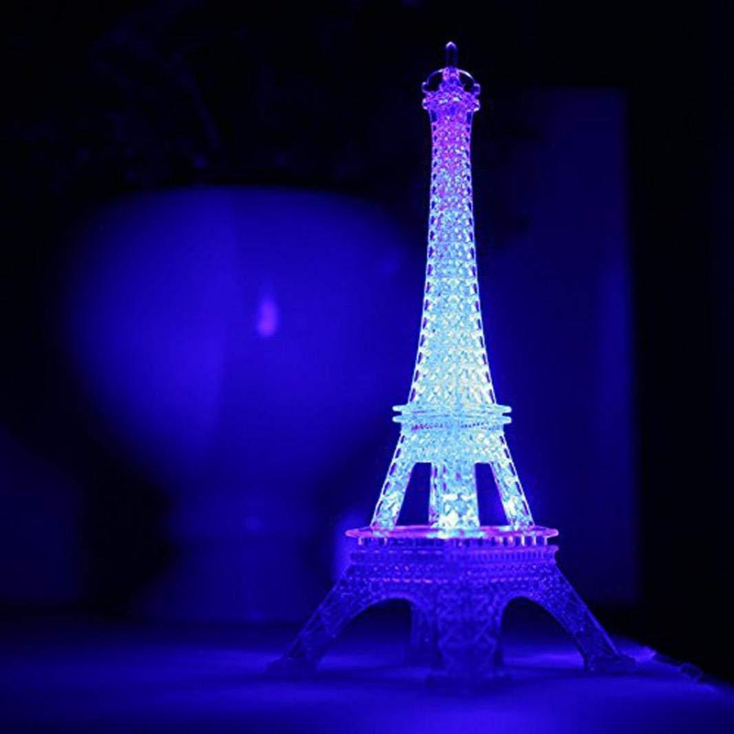 Nesee Night Light,Romantic Eiffel Tower LED Night Light Lamp Desk Table Home Bedroom Decorate Gift Home Decor