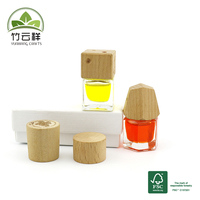 Wooden perfume bottle cap made from beech wood customized logo