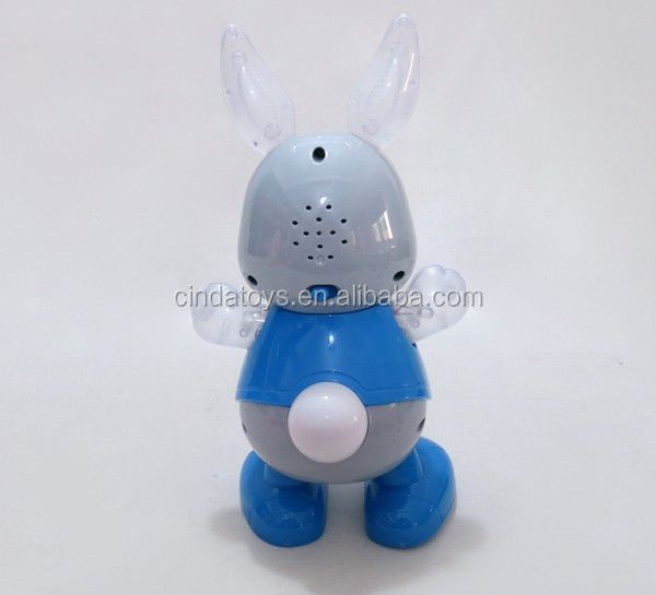 Easter bunny electric dancing toys,cute blink eyes plastic walking animal toys for latest product