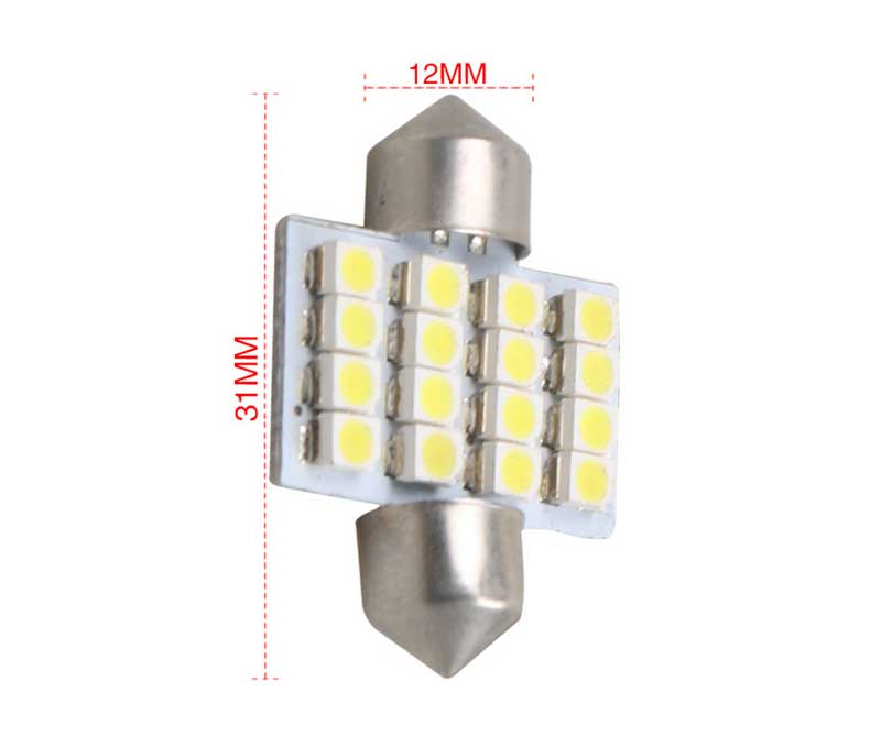 31MM double pointed 1210 4.5W 6000K 3600LM 12V Hot sale car part led rear light