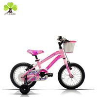 2017 chinese factory sell 16 inch pink rim child bike with plastic basket for 4 year old boys