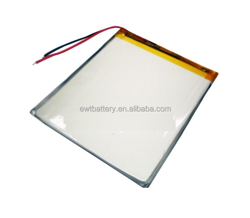 3.7V 4000 mAh high capacity lipo li-polymer rechargeable battery for laptop pAD MP4 GPS battery lp6567100