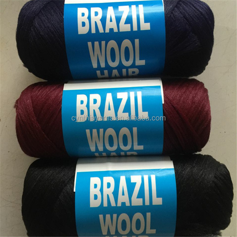 wholesale new Brazilian wool African hair yarn hand knittingarn 12 balls per lot blended scale hair wool y