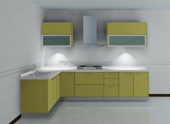 Desain Modular Dapur Kecil Model Sederhana L Bentuk Kabinet Pantry