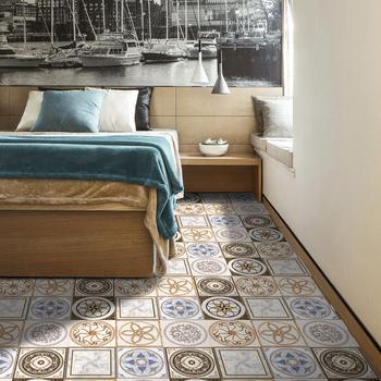 European Style Pvc Adhesive Reusable Peel Stick Tile For Wall Floor