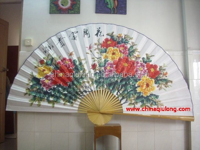 The Chinese style of traditional decorative hanging fan