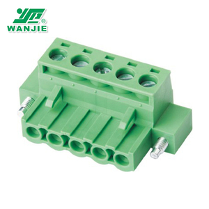 Hot sale Plug-in Terminal Block Connector with double nuts(WJ2EDGKM-5.0/5.08)