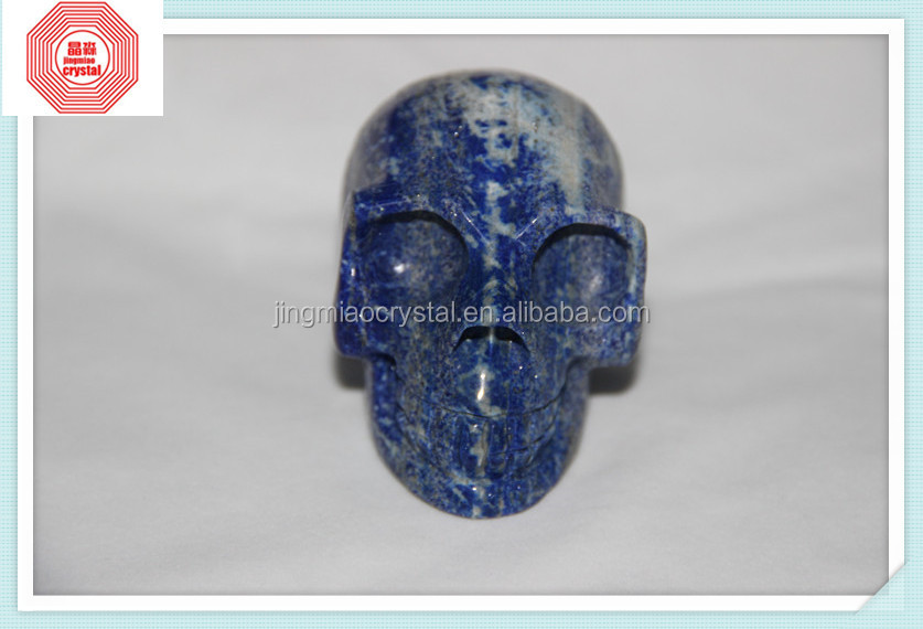Natural lapis lazuli skull carvings different size skulls for Christmas gifts