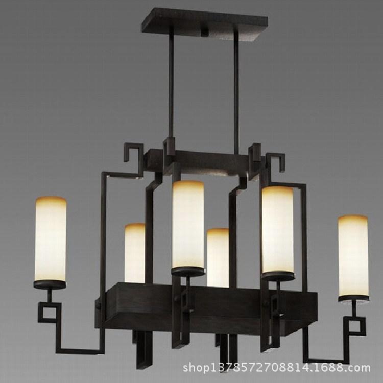 Rectangular Chandelier Dining Room: Modern Chandelier Iron Lighting Engineering Chandelier For
