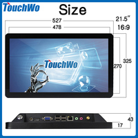 best price 21.5 lcd touch screen monitor for gaming machine with quality and low