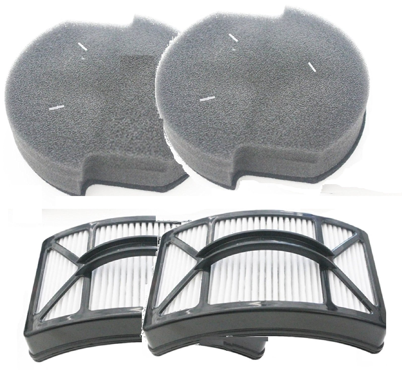 (2 Sets) Bissell Powerlifter Pet Filter Kits. Includes (2) Washable Foam Filters For 1604127, (2) Washable HEPA Filters For 1604130. 2 Sets of Filters