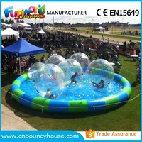 Pool floating inflatable water walking bubble ball water zorb ball