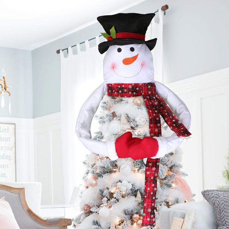 Snowman Christmas Tree Topper Large Tree Topper for Christmas Tree Decoration