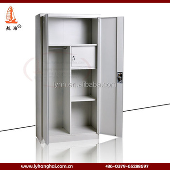 Indian Style Used Double Door Clothes Cabinet Safe Locker Cabinets Indian  Steel Almirah Design