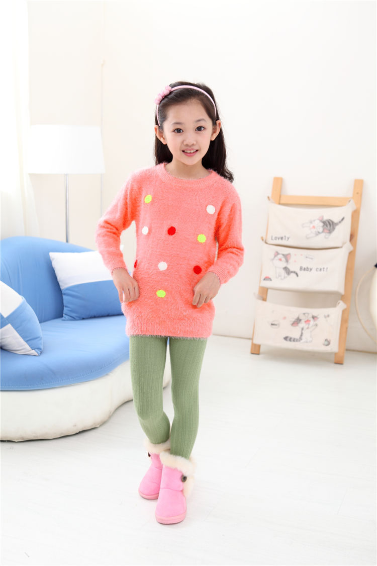 c459b6def7 Get Quotations · Brand Cotton Knitted Kids Girls Sweater Casual Style Solid cardigan  Girls Autumn Clothes For 2-