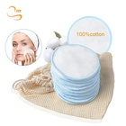 "Hot Sale 3Layers 3.15"" Soft Facial Wipes Makeup Remover Pads Reusable Cotton Pads Face"