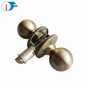 ISO9001 Widely Usage Round Knob Tubular Cylinder Main Privacy Door Lock