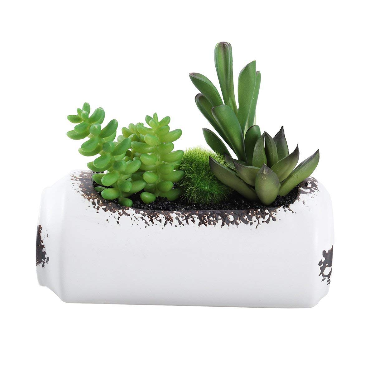Buy Vosarea Artificial Plants And Flowers In Pots Container For Home Decor Indoor Outdoors Potted Small Fake Succulents Plants Arrangements For Decoration Include Pot And Plants In Cheap Price On Alibaba Com