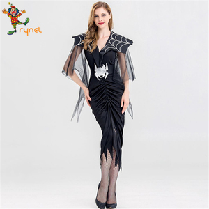 PGWC5177 Custom Women Lady Deluxe Masquerade Fancy Dress Sexy Devil Vampire Costume