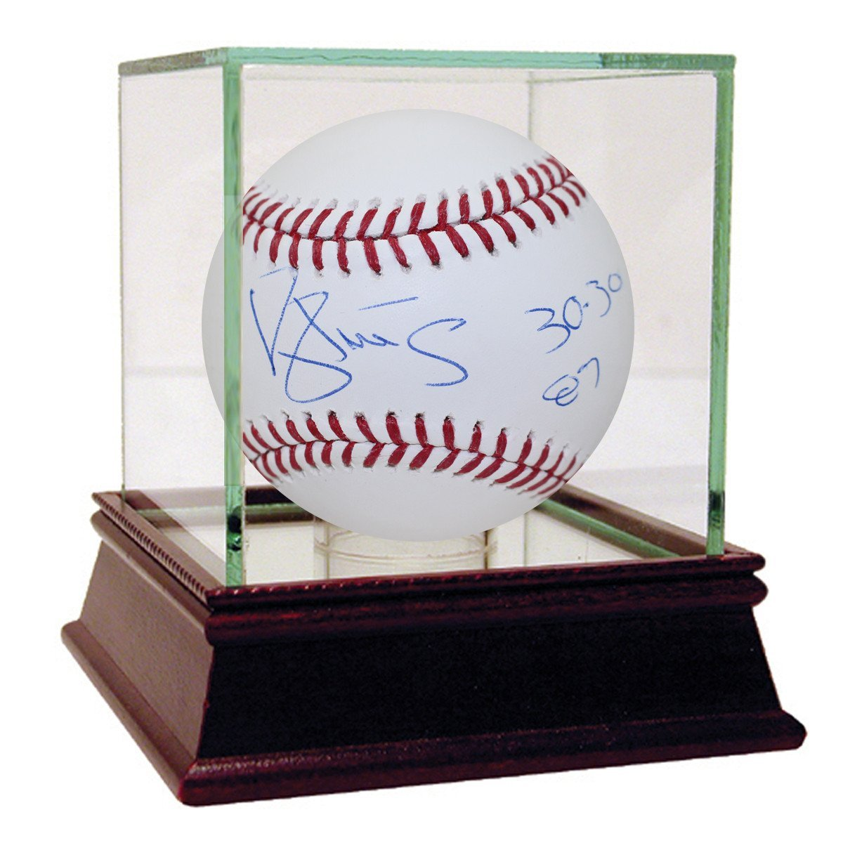 "Darryl Strawberry Autographed MLB Major League Baseball with ""30/30 87"" inscribed - Case is NOT Included"