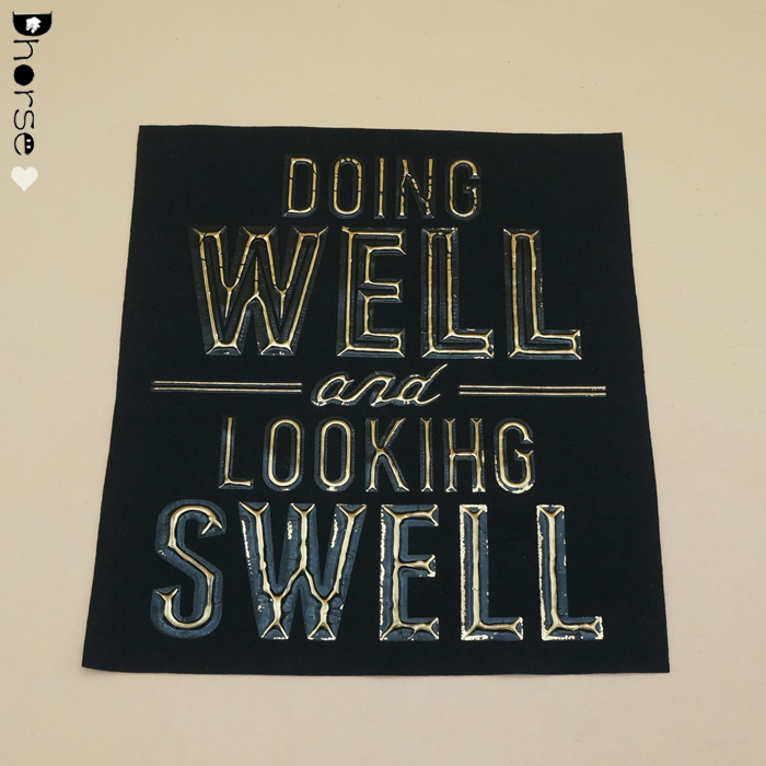 "Wholesale Custom digital Embossed letter ""DOING WELL AND LOOKING SWELL ""Rubber Patch DHBP1323"