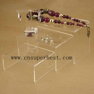 set of 3 acrylic nesting plinths jewelry display stand