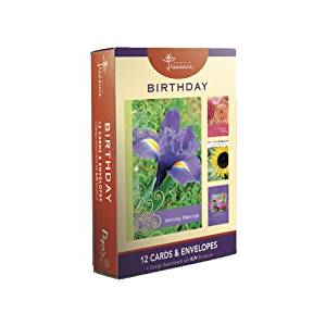 Cheap birthday cards bulk find birthday cards bulk deals on line at get quotations 12 count boxed flower birthday cards bulk with kjv scripture flowers greeting cards for her m4hsunfo