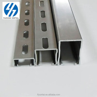 High Quality slotted galvanized strut steel u channel bracket gi c Iron channel