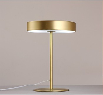 Modern Minimalist Rose Gold Black Table Lamp Office Study Bedside Lamp  Hotel Creative Plated Gold Table