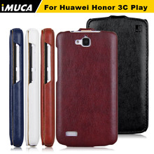100% original leather case for Huawei Honor 3C Play Hol-T00 5.0″ Vertical Flip Cover Mobile Phone Bags & Cases Accessories