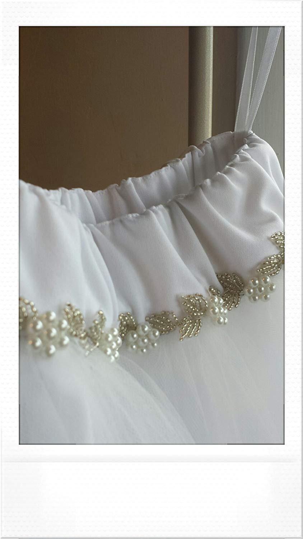 Girls White Tulle Skirt