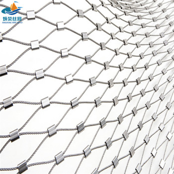 Stainless Steel Ferrule Cable Netting / Aviary Wire Mesh
