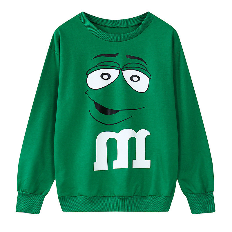 Buy Harajuku Women Funny M Chocolate Bean Sweatshirt 2015 Hitz Emoji M Bean  Loose Pullover Long Sleeve Green Funny Emoji Sweatshirt in Cheap Price on  ... c200dd7fc2dc
