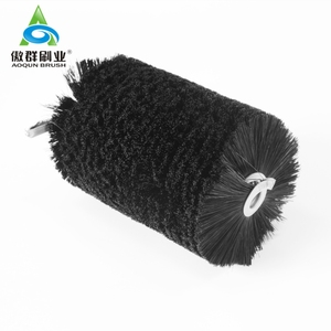 Cylindrical Wire Brush Dampening Industrial Brushes Spiral