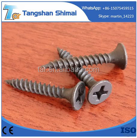 China hardwire fastener good price phosphated drywall screw C1018 Hardened Phosphated Coarse Thread Bugle Head Phillips