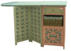 Antique Clothes Drying table Ironing Storage Cabinet for Laundry/Living Room H-16277