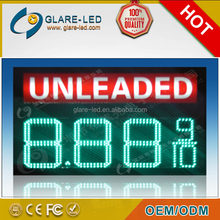 led electronic billboards gas station price display with regular light box