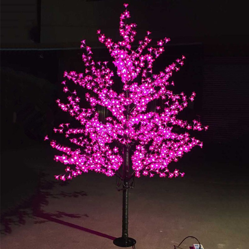super popular 81cb6 21b20 1.5M 1.8M LED Crystal Cherry Blossom Tree Lights Christmas New year  Luminaria Decorative Tree Lamp Landscape Outdoor Lighting