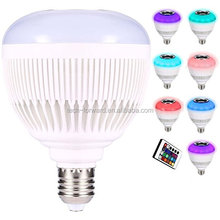 LED Bluetooth Speaker Bulb Music Light Wireless Remote Control E26 Base Color Chaning Dimmable Smart LED Bulb
