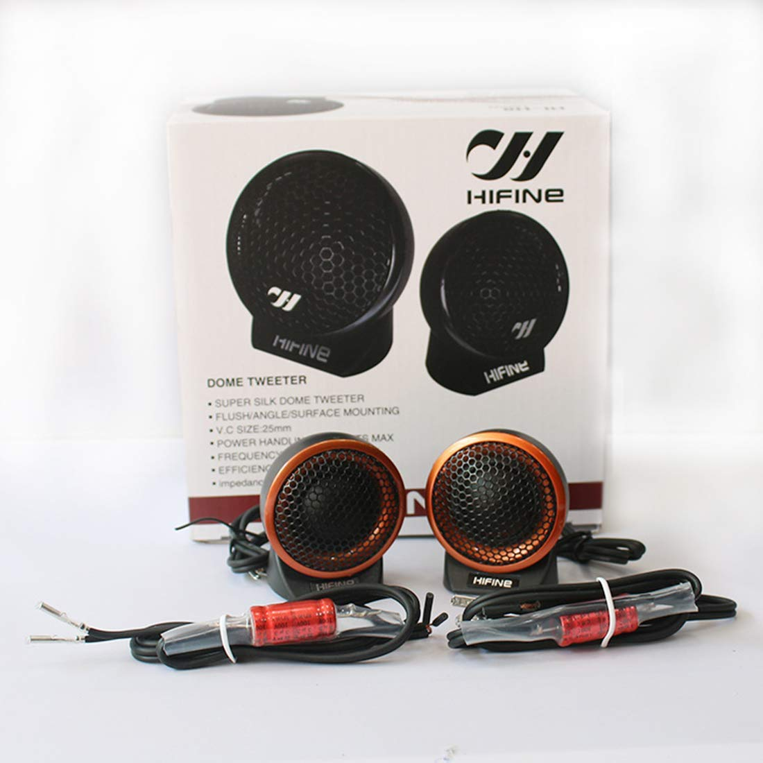 Car Audio Speakers Car Audio Speakers Tweeter Speakers Coaxial Speaker Audio Component Tweeters System Rear Full Range Premium Auto Speakers 1-Inch Tweeter Kit 25mm Original Sound Playback