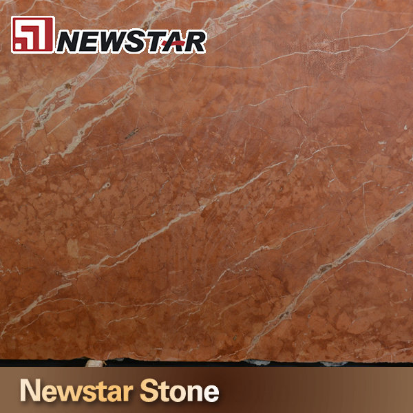 Newstar Stone polished red marble rojo alicante red marble slab