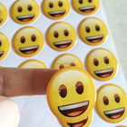 3D smile Domed sticker epoxy sticker for kids gift