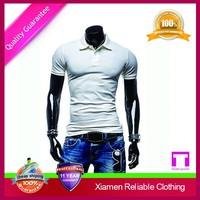 Custom best quality comfortable modern mens slim fit v-neck t-shirt