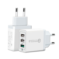 Multiple USB Wall Charger Adapter EU Plug AC Power Charger 3 Port