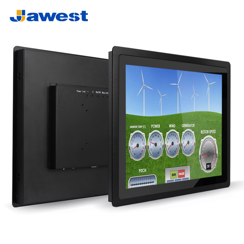 Wholesale Jawest aluminum alloy 3mm bezel 12 inch touch screen rack panel mount monitor