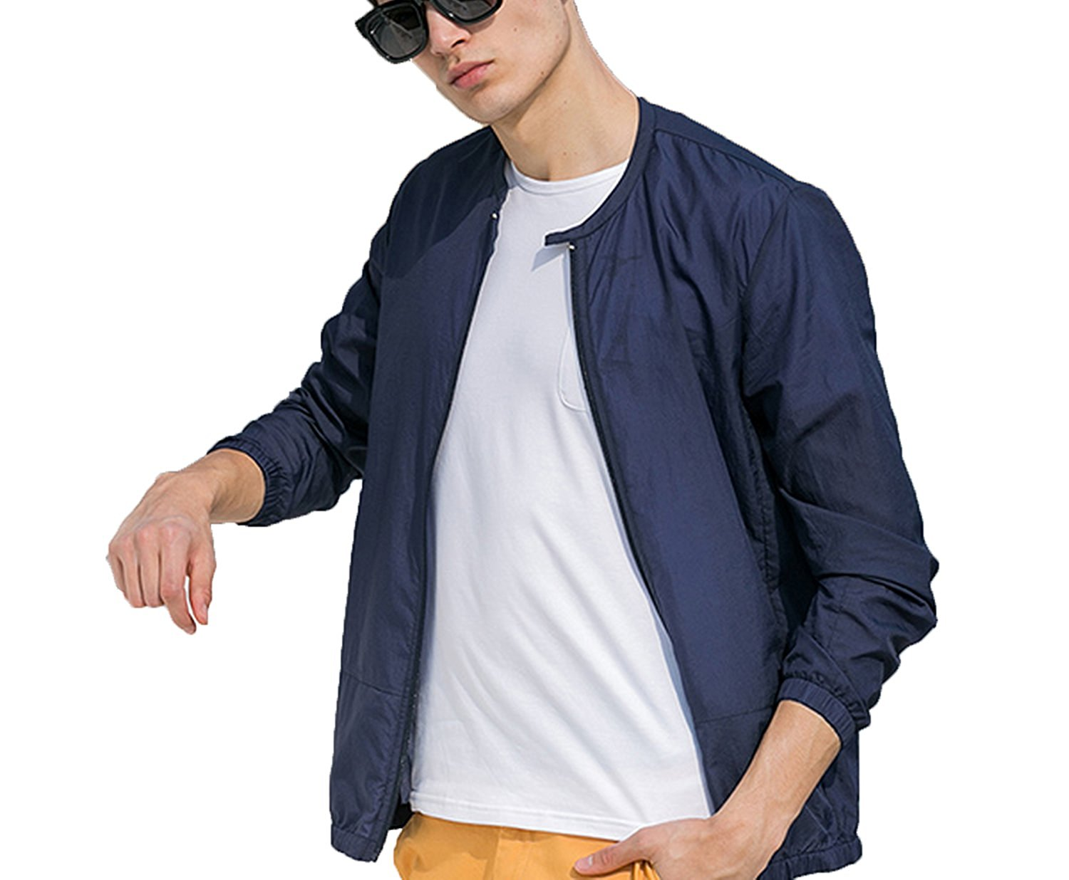 0e26c4e718d9 Get Quotations · Fashion-Lover Summer Sun Protection Clothing Men Jacket  Ultra Light Breathable Waterproof Jacket Men s Sunscreen