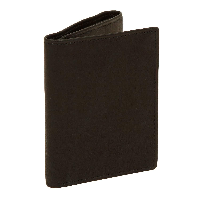 Joseph Abboud Mens Black Trifold Antique Leather Wallet