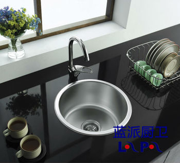 lan pai luxury stainless steel kitchen sink lp 400440 round single sink. beautiful ideas. Home Design Ideas