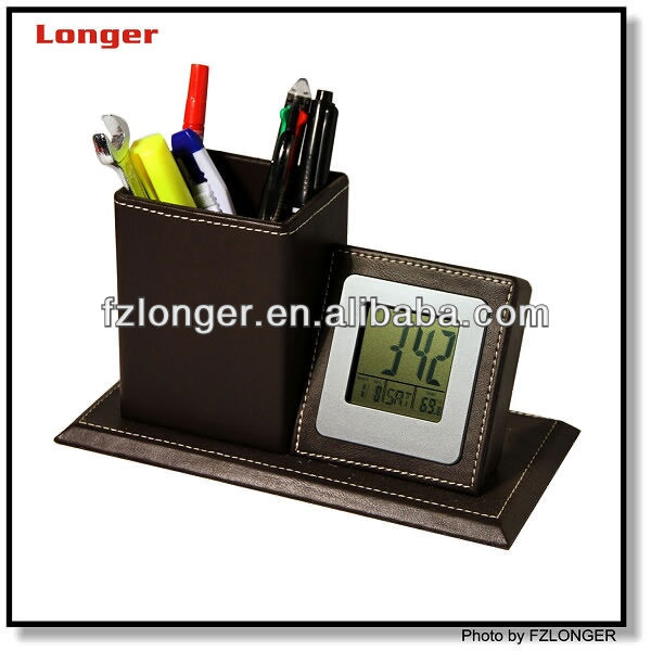 lcd clock world time with pen holder LG-B013B
