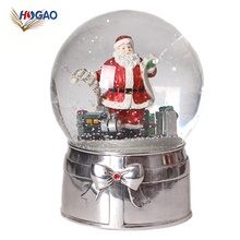 Glass water ball, custom snow globe,Christmas water snow globe for souvenir